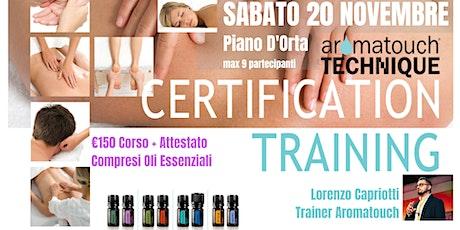 PIANO D'ORTA Corso AromaTouch Technique dōTERRA biglietti