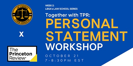 Personal Statement Workshop with The Princeton Review tickets