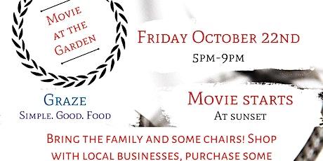 Movie Night & Pop Up Shops at the Garden tickets