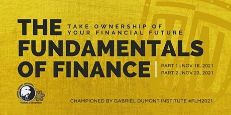 The Fundamentals of Finance   Part 1 tickets