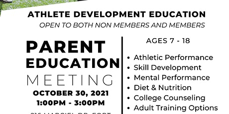 Parent Education Meeting tickets