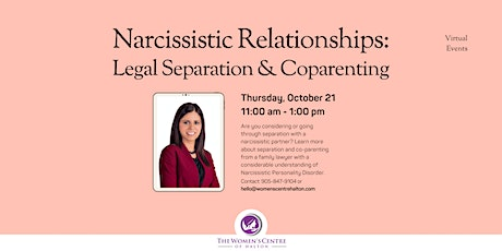 Narcissistic Relationships: Legal Separation and Coparenting tickets