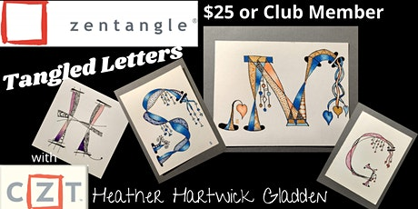 Zentangle® Class: Tangled Letters (PM) tickets