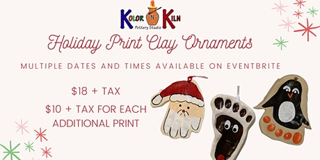 Holiday Print Clay Ornaments tickets