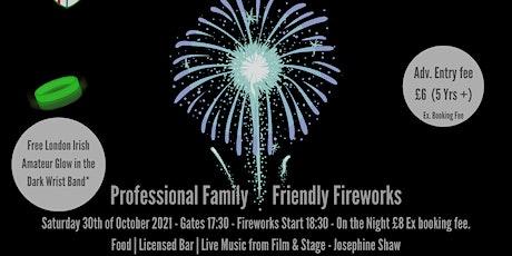 Professional Firework @ London Irish Amateur - Saturday 30th of October tickets