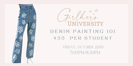 Denim Painting Workshop @ Girlhero tickets