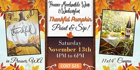 Thankful Pumpkin Paint & Sip! tickets