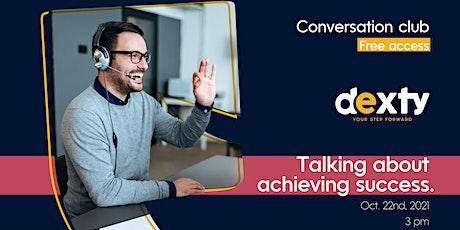 Talking about achieving success boletos