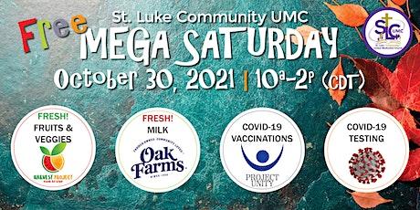 MEGA SATURDAY: Free food distribution, COVID vaccinations and COVID testing tickets