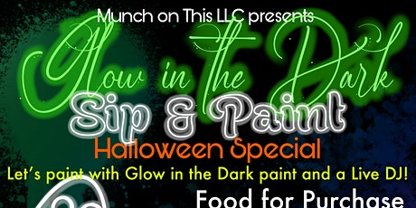 Glow in the dark sip and paint-Halloween edition tickets