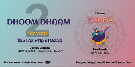 DHOOM DHAAM Navratri 2 | Garba Event tickets