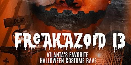 FREAKAZOID 13: Atlanta's Biggest & Baddest Adult Halloween Costume Rave! tickets