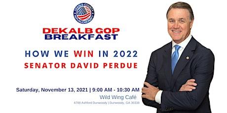 DeKalb GOP Breakfast with Senator David Perdue tickets