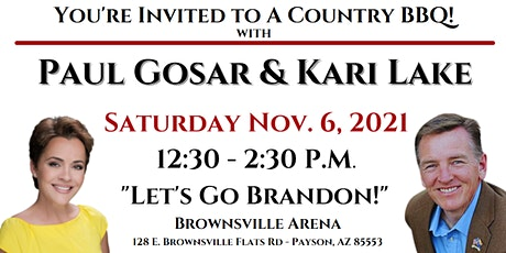 Country BBQ With Paul Gosar And Kari Lake! tickets