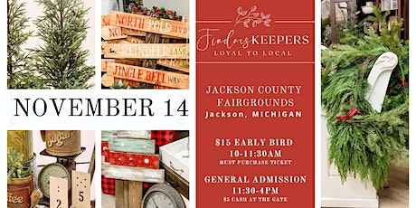 Finders Keepers Market at The Jackson County Fairgrounds (November 14) tickets
