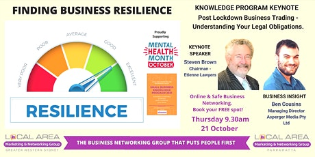 Parramatta: Finding Business Resilience  - Knowing Your  Legal  Protections tickets