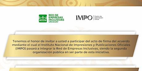 Firma de acuerdo con IMPO entradas