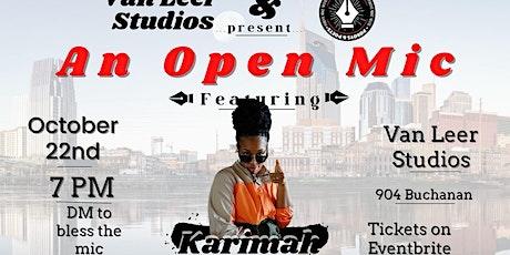 Van Leer Studios & PBnPNash Present an Open Mic Night Feat Karimah tickets