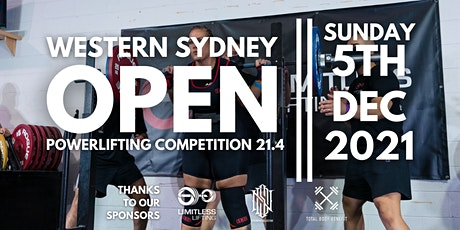 Western Sydney Open Powerlifting Competition 21.4 | NEW DATE tickets
