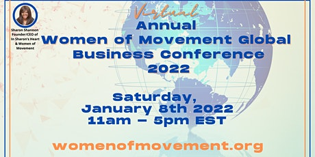 Virtual  ANNUAL Women of Movement Speaks Conference 2022 tickets