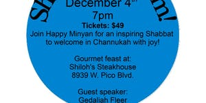 Shabbat Dinner with The Happy Minyan