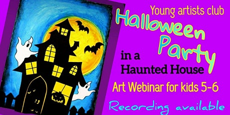 Young Artists Club - Online Webinar for 5-6 year olds - Halloween Art Party tickets