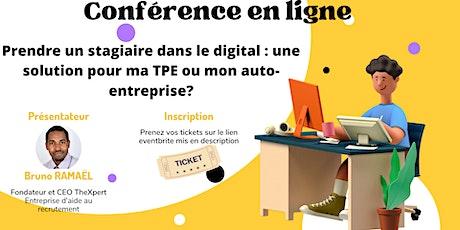 Prendre un stagiaire dans le digital : une solution pour ma TPE? billets