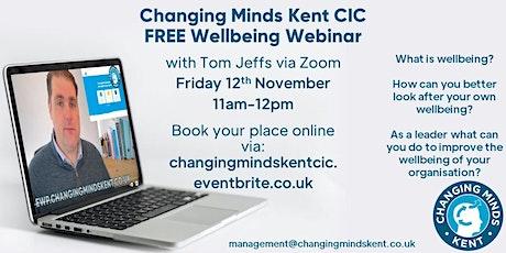 Free Wellbeing Webinar tickets