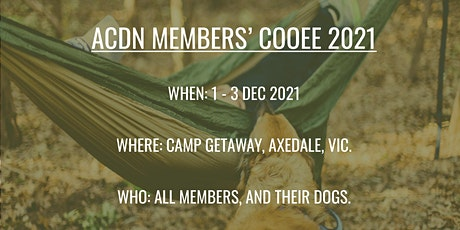ACDN Members' Cooee tickets
