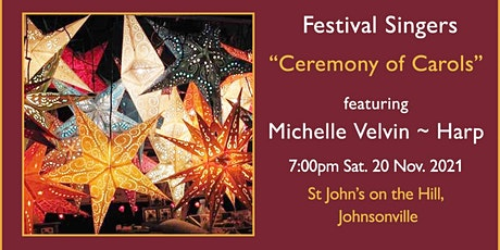 Festival Singers' Ceremony of Carols concert with Michelle Velvin harpist tickets