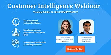 Customer Intelligence Webinar tickets