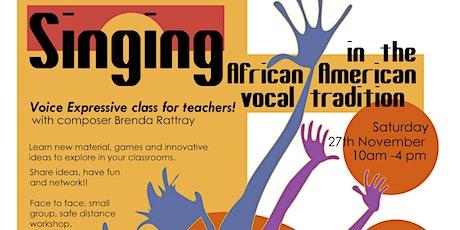 Voice Expressive Workshops for Teachers tickets