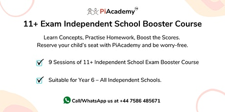 11+ Exam Independent School Booster Course (Half Term) tickets