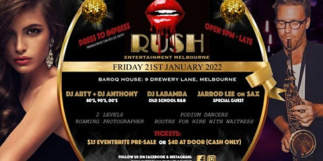RUSH 80's, 90's, 00's and RnB COVID RECOVERY Dance Party tickets
