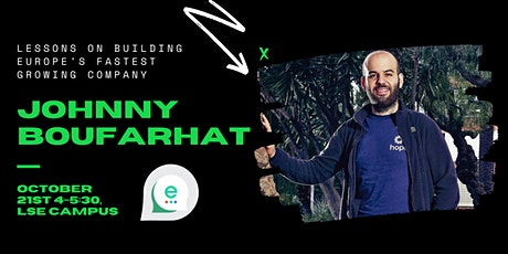 Fireside Chat with Johnny Boufarhat, founder of Hopin tickets