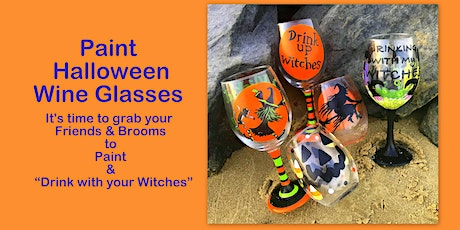 Halloween Wine Glass Painting at the Red Roost Restaurant in White Haven tickets