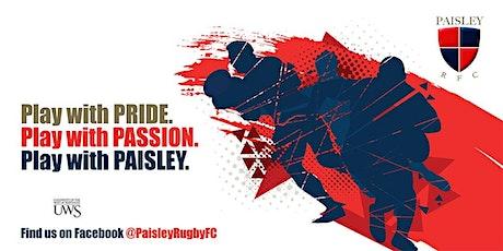 Paisley RFC Youth Rugby Training - U13/14 Boys tickets