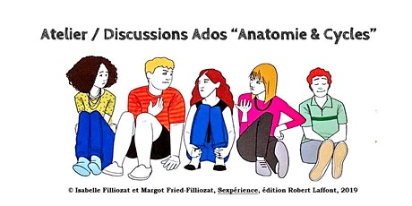 """Atelier / Discussions Ados """"Anatomie & Cycles"""" billets"""