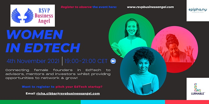 """""""Women in EdTech - Online Pitch Event"""" image"""