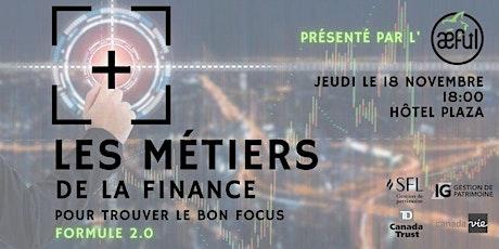 Les Métiers de la Finance : Formule 2.0 billets