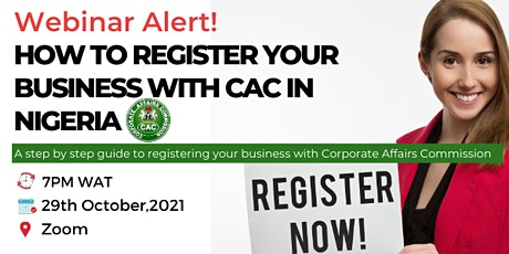 How to Register your business with CAC in Nigeria tickets