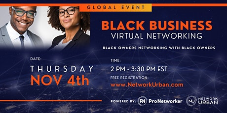 Virtual: Black Business Networking Event tickets