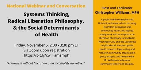 National  Conversation on Systems Thinking and Applied Public Health tickets