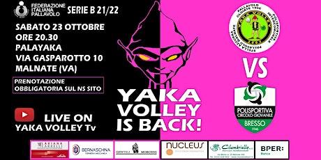 YAKA VOLLEY VS PCG BRESSO VOLLEY SERIE B MASCHILE biglietti