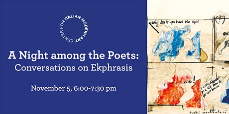 A Night among the Poets: Conversations on Ekphrasis tickets
