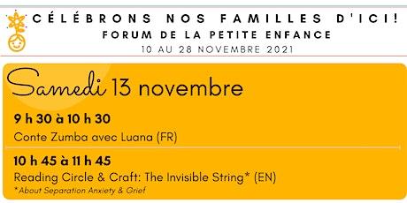 Forum de la petite enfance - Volet Famille - 13 novembre 2021 billets