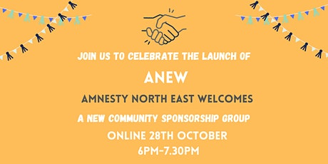 Launch of Amnesty NE Welcomes (ANEW) tickets