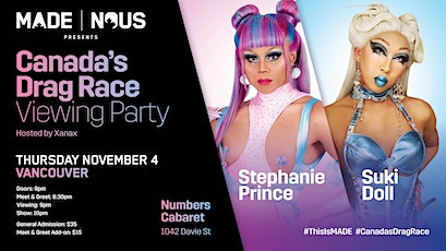 Suki Doll & Stephanie Prince Canada's Drag Race Viewing Party tickets