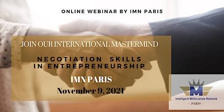 Mastermind Live Webinar: Negotiation skills in entrepreneurship tickets