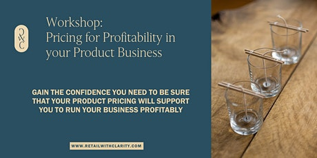 Pricing for Profitability in your Product Business tickets